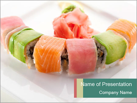 Salmon and Avocado PowerPoint Template
