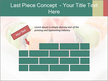 Salmon and Avocado PowerPoint Template - Slide 46