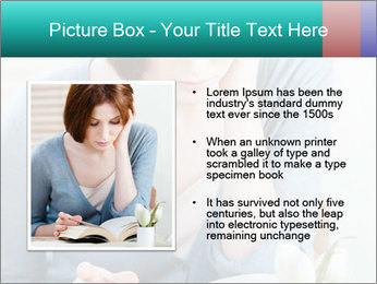Lady reads an interesting book PowerPoint Template - Slide 13