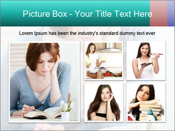 Lady reads an interesting book PowerPoint Template - Slide 19
