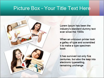 Lady reads an interesting book PowerPoint Template - Slide 23