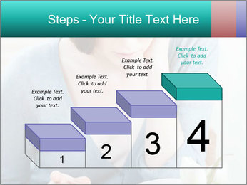Lady reads an interesting book PowerPoint Template - Slide 64