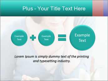 Lady reads an interesting book PowerPoint Template - Slide 75