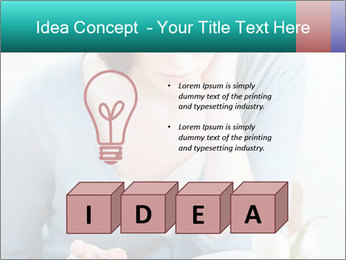 Lady reads an interesting book PowerPoint Template - Slide 80