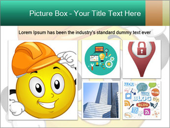 Smiley Wearing a Hard Hat PowerPoint Template - Slide 19