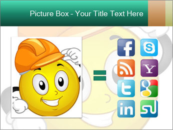 Smiley Wearing a Hard Hat PowerPoint Template - Slide 21