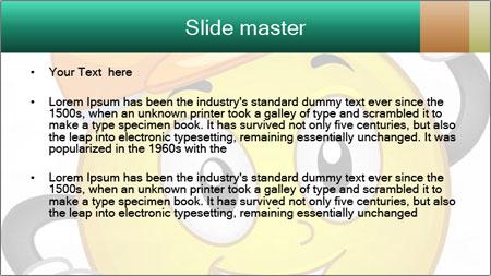 Smiley Wearing a Hard Hat PowerPoint Template - Slide 2