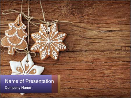 Gingerbread cookies PowerPoint Template