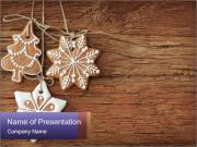 Gingerbread cookies PowerPoint Templates