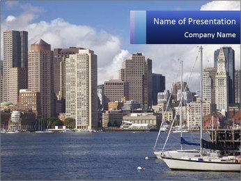 Boston skyline PowerPoint Template