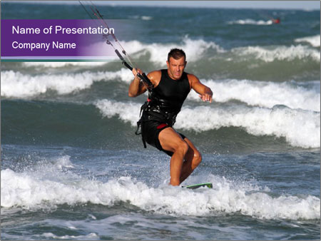 Kite surfer PowerPoint Templates
