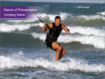 Kite surfer PowerPoint Template - Slide 1