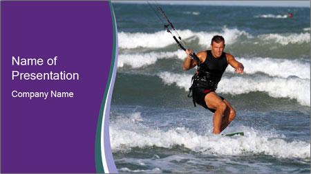 Kite surfer PowerPoint Template