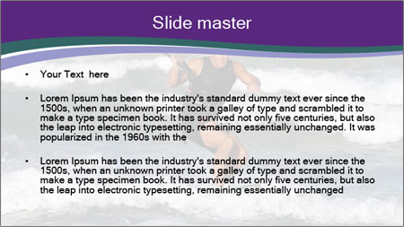 Kite surfer PowerPoint Template - Slide 2