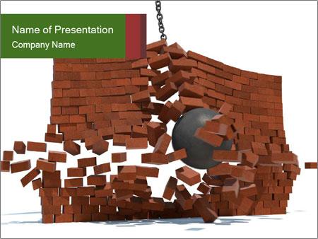 Ball destroying PowerPoint Template