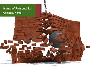 Ball destroying PowerPoint Template - Slide 1