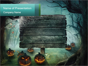 Halloween design PowerPoint Template - Slide 1