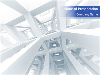 3d abstract architecture PowerPoint Template