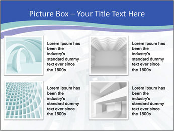 3d abstract architecture PowerPoint Template - Slide 14