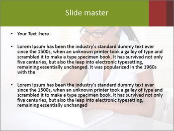 Charming secretary PowerPoint Template