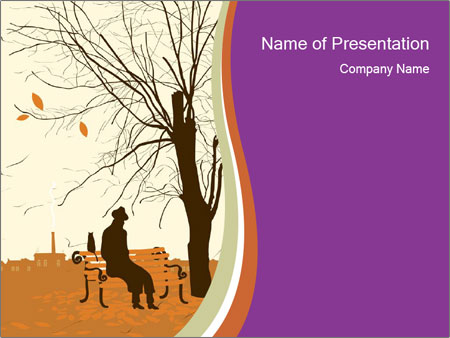 Man with a cat PowerPoint Templates