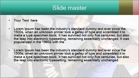 Man training PowerPoint Template - Slide 2