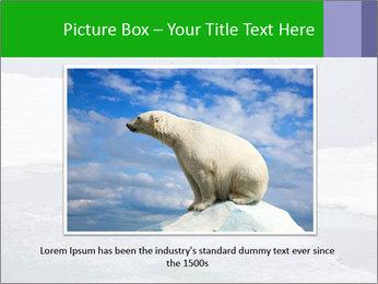 Polar bear PowerPoint Template - Slide 16