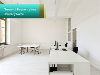 Interior in office PowerPoint Template - Slide 1