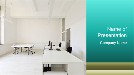 Interior in office PowerPoint Template