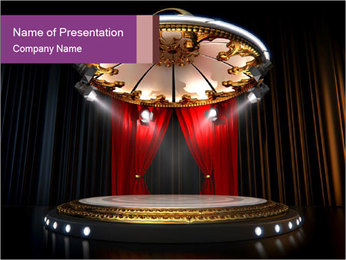 Empty stage PowerPoint Template - Slide 1