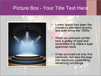Empty stage PowerPoint Template - Slide 13