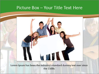 Happy students relaxing PowerPoint Templates - Slide 16