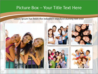 Happy students relaxing PowerPoint Templates - Slide 19