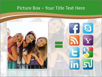 Happy students relaxing PowerPoint Templates - Slide 21