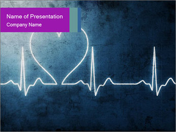 Heart beat PowerPoint Template - Slide 1