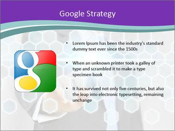 Businessman touching PowerPoint Template - Slide 10