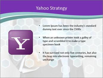Businessman touching PowerPoint Template - Slide 11