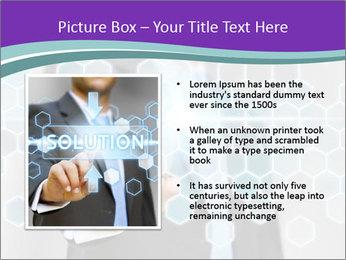 Businessman touching PowerPoint Template - Slide 13
