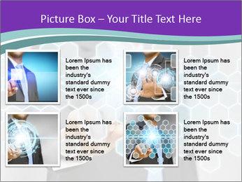 Businessman touching PowerPoint Template - Slide 14