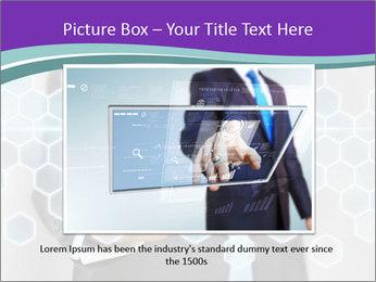 Businessman touching PowerPoint Template - Slide 15