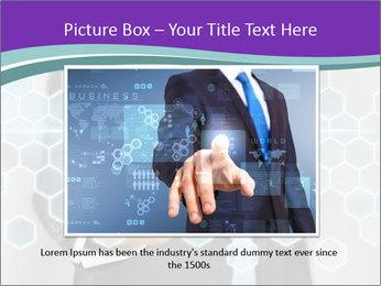 Businessman touching PowerPoint Template - Slide 16