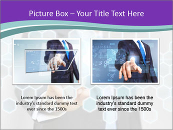 Businessman touching PowerPoint Template - Slide 18