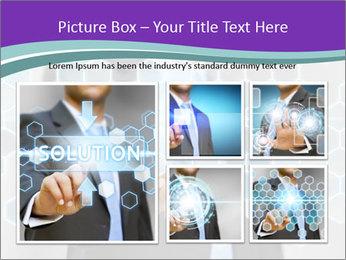 Businessman touching PowerPoint Template - Slide 19