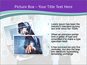 Businessman touching PowerPoint Template - Slide 20
