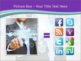Businessman touching PowerPoint Template - Slide 21