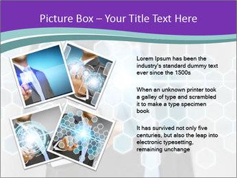 Businessman touching PowerPoint Template - Slide 23