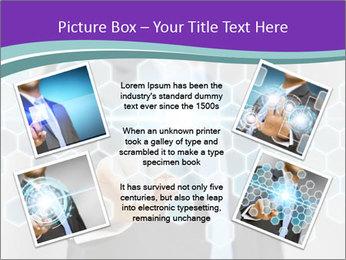 Businessman touching PowerPoint Template - Slide 24