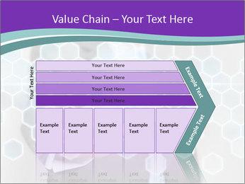 Businessman touching PowerPoint Template - Slide 27