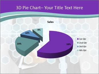 Businessman touching PowerPoint Template - Slide 35