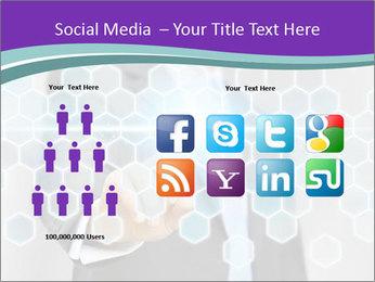 Businessman touching PowerPoint Template - Slide 5